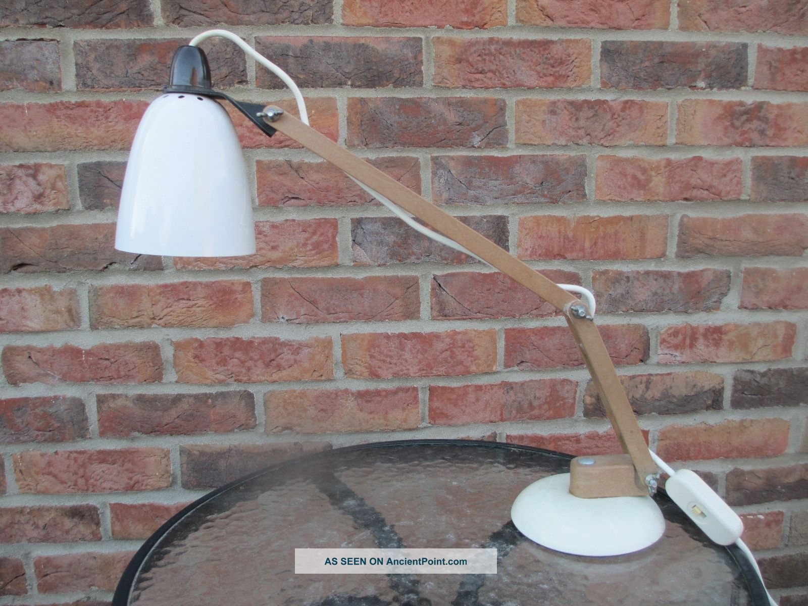 Mid - Century Habitat Maclamp Desk Lamp By Terence Conran In White 20th Century photo