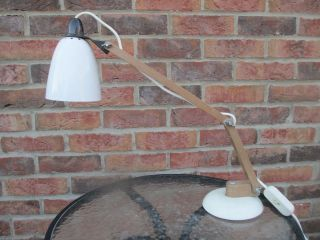 Mid - Century Habitat Maclamp Desk Lamp By Terence Conran In White photo
