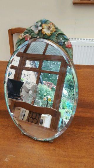 Vintage Large Barbola Mirror Pretty photo