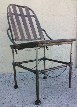 Machine Age 1900 ' S Adjustable Industrial Chair Brizard & Young photo