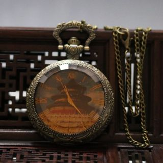 Oriental Vintage Collectible Handwork Beijing Tiantan Brass Pocket Watch @syb424 photo