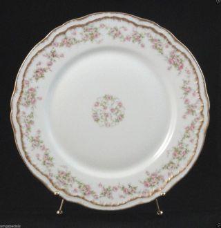Antique Haviland Limoges Schleiger 844 Pink Roses Dinner Plate Gold Trim 304 photo