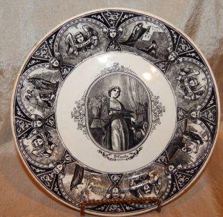 Vintage Saint Plate By Bf Keramis Belgium N photo