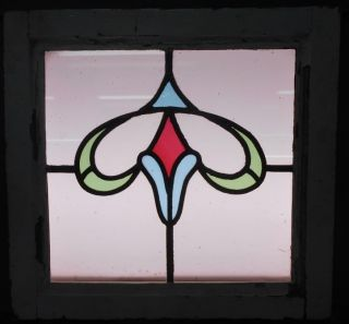Old English Leaded Stained Glass Window Curvy Abstract Design 17.  75