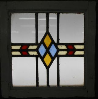 Old English Leaded Stained Glass Window Geometric Strip 18
