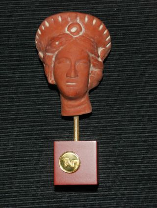 Greek Ancient Femaly Head - By Rchaeological Museum photo