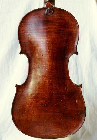 Antique Violin Labelled Emanuel Adam Homolka 1845 photo