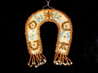 Vintage Iroquois Beaded Horse Shoe Whimsey Folk Art Aafa photo