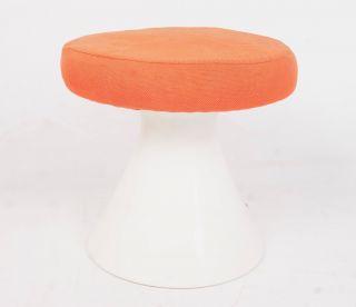 Arkana Tulip Stool Footstool Eero Saarinen Maurice Burke Retro Vintage Orange photo