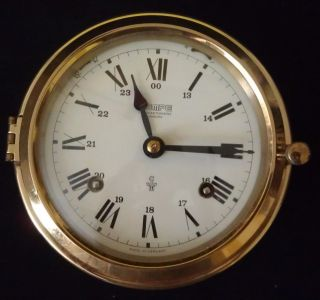 Wempe Chronometerwerke Hamburg Germany Mechanical Ship ' S Bell Clock 1986 photo