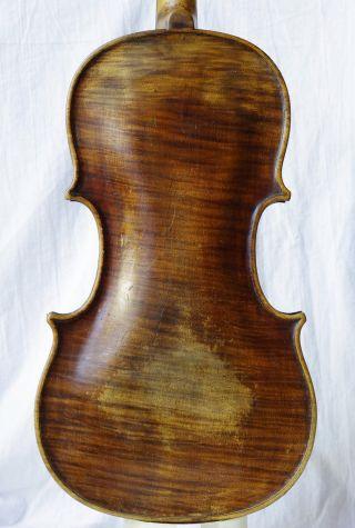 Antique Violin Labelled Edlinger Thomas Ausburg 1796 photo