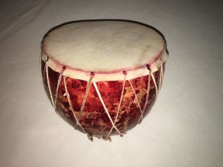 Bendre Calabash Drum Gourd Drum African Prehistoric Percussion photo