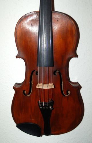Fine Antique German 4/4 Violin - Label J.  B.  Vuillaume - Over 100 Years Old photo