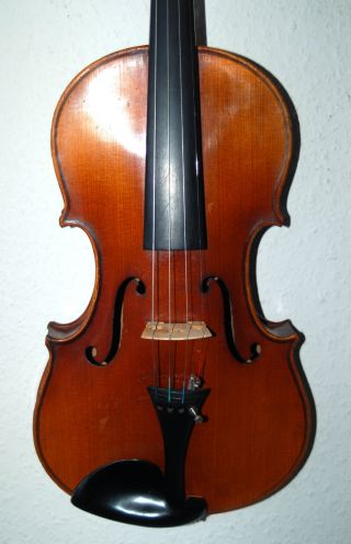 Fine Antique Handmade German 4/4 Fullsize Violin - About 1920 photo