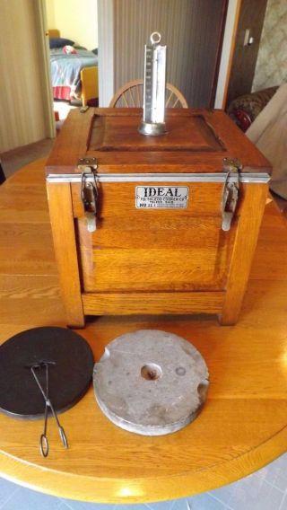 Antique Oak Ideal Cooker No 11.  By The Toledo Cooker Co.  U.  S.  A. photo
