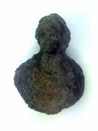 Ancient Roman Bronze Bust photo