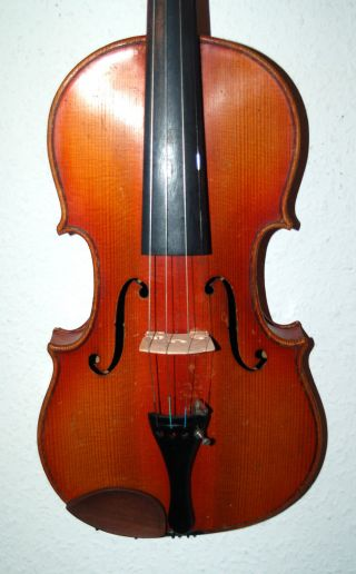 Fine Antique German Fullsize 4/4 Master Violin - 4 Corner Blocks photo