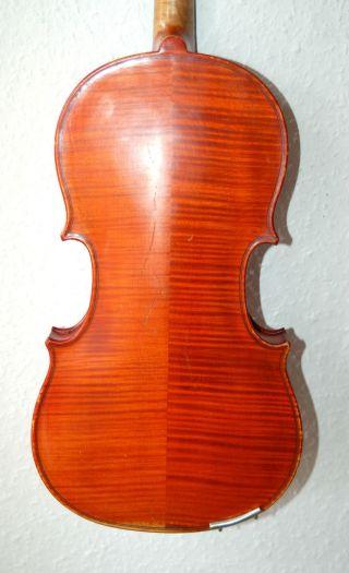 Fine Antique German Fullsize 3/4 Master Violin - 4 Corner Blocks photo