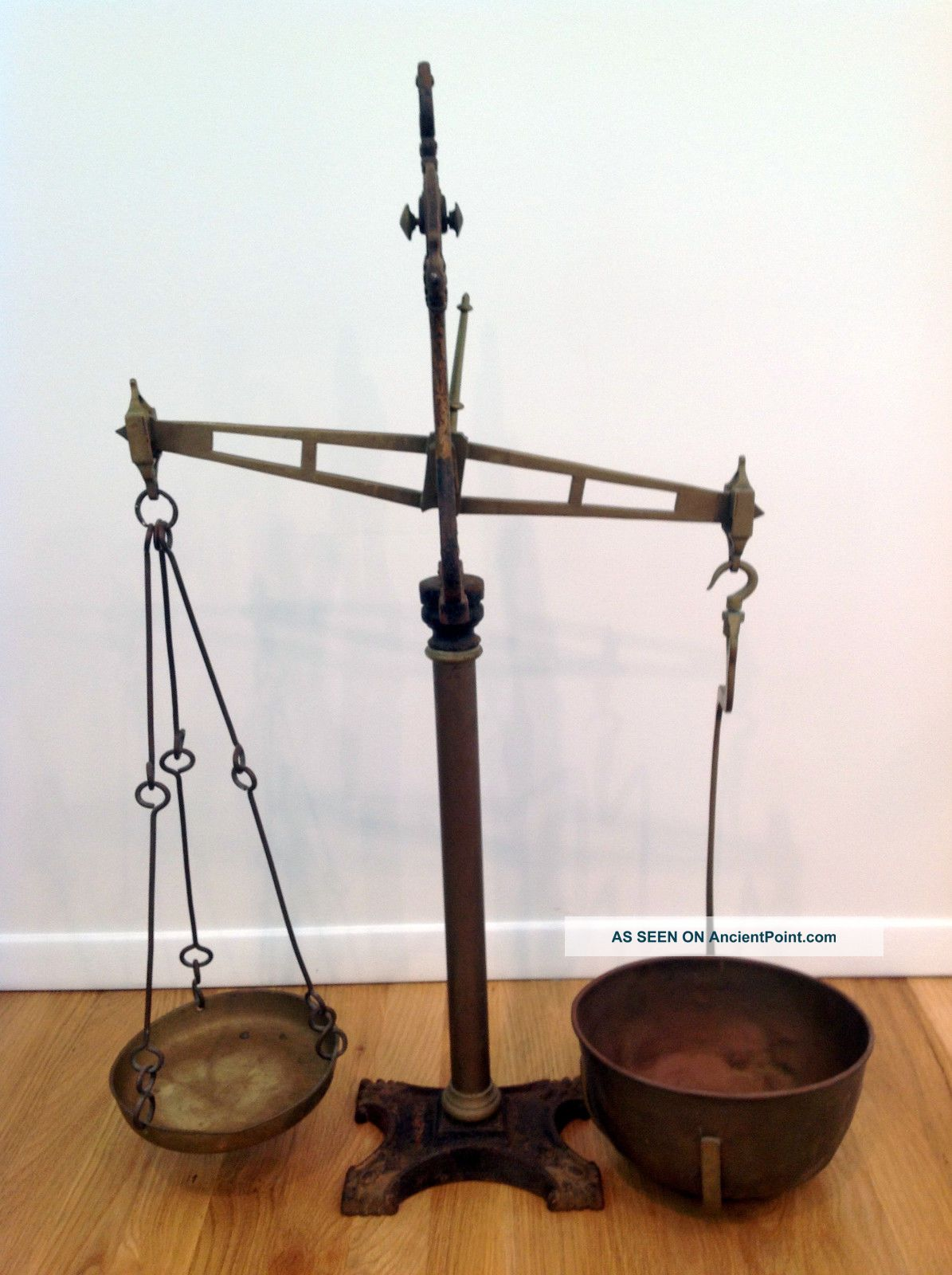 Antique Br Balance Beam Scale