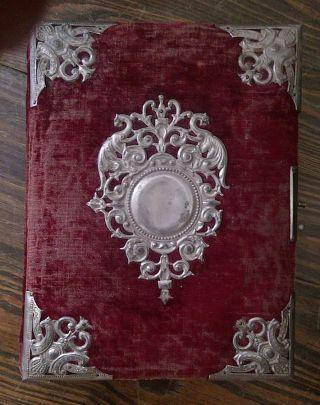 Antique Victorian Velvet Photo Album No Photos Gothic photo