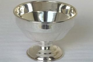 A Fine Solid Sterling Silver Footed Sugar Bowl Birmingham 1944. photo