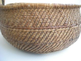 Antique Vintage Walapai Indian Basket Twined Willow Grand Canyon Arizona Native photo