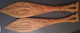 Antique C.  1900 Ceremonial Dance Paddles,  Northwest Coast First Nations,  21