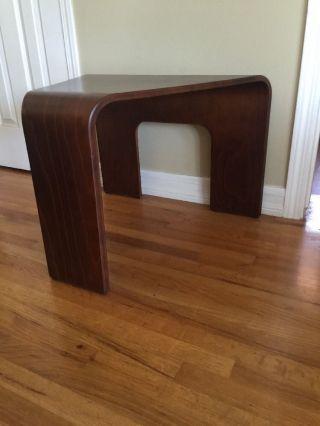 Modern Walnut Wood Triangle Coffee Table photo
