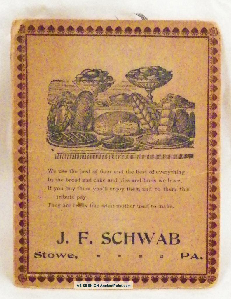 J F Schwab Needle Case Stowe Pa Advertising Premium Uneeda Needles 1907 3 Needles & Cases photo