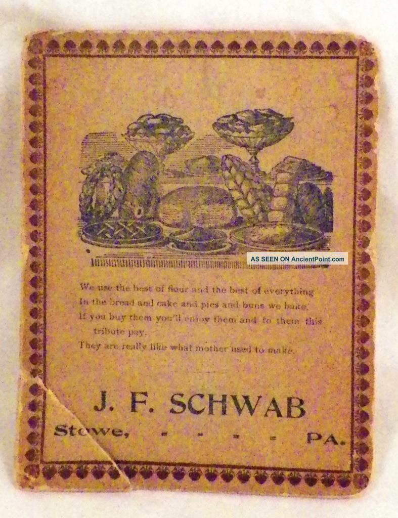 J F Schwab Needle Case Stowe Pa Advertising Premium Uneeda Needles 1907 1 Needles & Cases photo
