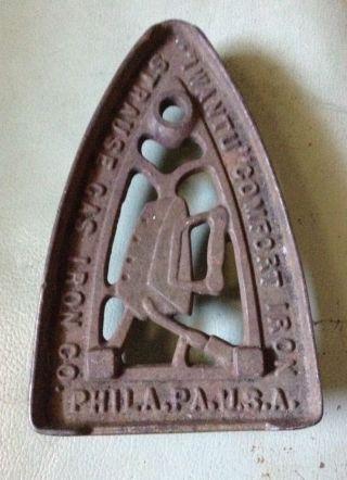 Antique Cast Iron Iron Rest Strause Gas Iron Co. ,  Philadephia photo