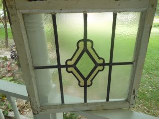 Sa195 Lovely Older Multi - Color English Leaded Stained Glass Window photo