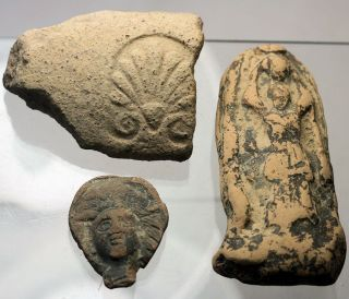 Roman,  Etruscan And Greek Decorated Pottery Fragments,  Ex Early - Mid 20th Colls photo