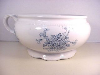 Chamber Pot Antique Ironstone East Palestine Pottery Co Queen Toilet Ware photo
