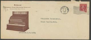 1927 Federal Cash Register Advertising Cover Kansas City Mo photo