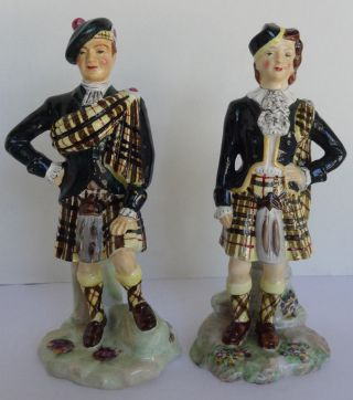 English Radnor Bone China Scottish Figurines photo
