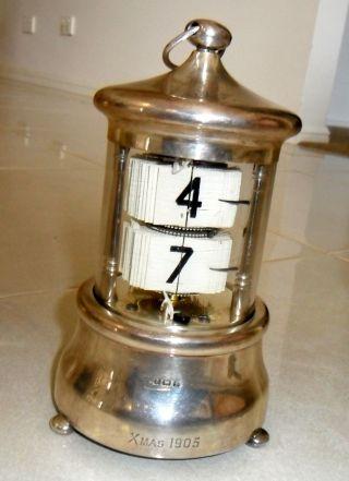 Vintage Sterling Silver Plato Flip Clock photo