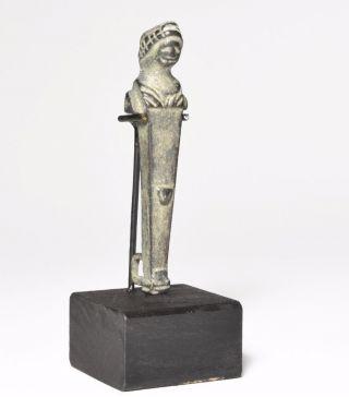 Roman Bronze Herm Circa 4th Century Ad. photo