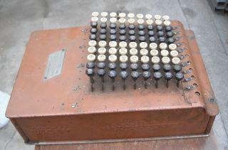H Model Felt & Tarrant Adding Machine 1914 Comptometer Chicago Usa Serial - 126052 photo