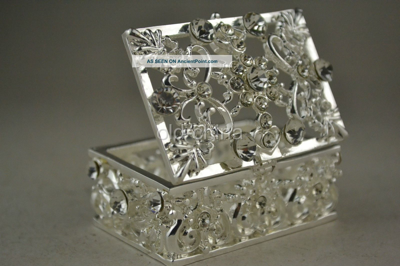 China First - Rate Decorate Handwork Miao Silver Hollow Out Delicate Jewel Box Boxes photo