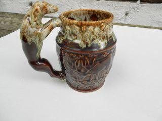Antique Rockingham Harker 1840 Usa Houndhandled Mug Beer Stein photo