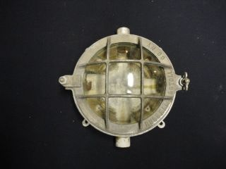 Antique Ships Explosion Proof Light Fixture Vintage Industrial Russell & Stoll photo