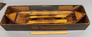 Antique 19thc Boat Model Unsinkable Lifeboat Patent Model Salesman Sample photo
