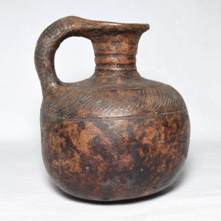Rare Ancient Korean Pottery Jug,  Goryeo/joseon Dynasty,  C.  1000 - 1500 Ad photo