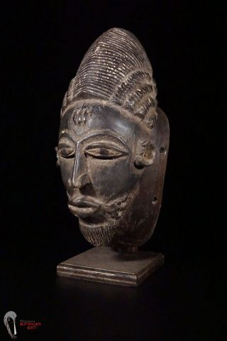 Discover African Art: Baule Mask From Ivory Coast W/custom Base photo
