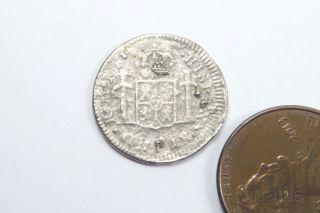 Antique Spanish Silver 1 Real / Reales Coin 1783 Shipwreck / Pirate Treasure photo