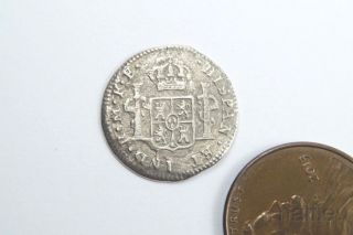 Antique Spanish Silver 1 Real / Reales Coin 1781 Shipwreck / Pirate Treasure photo