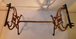 Antique Cast Iron (owl 106) Piano Organ Vanity Stool With Harp Design photo
