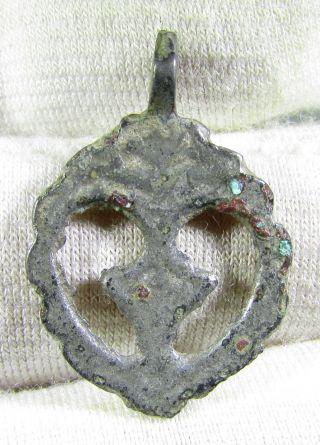 Viking Era Silver Open Work Pendant / Amulet - Wearable Artifact - Mn40 photo