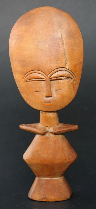 Vtg West African Hand Carved Statue Fertility Doll Akuaba Not A Tourist Souvenir photo